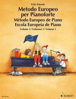 Europäische Klavierschule, Spanisch-Portugiesisch-ItalienischMetodo Europeo per Pianoforte. Método Europeo de Piano. Escola Europeia de Piano