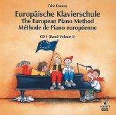 Europäische Klavierschule, Deutsch-Englisch-Französisch. The European Piano Method. Methode de Piano europeenne. Vol.1, 1 Audio-CD