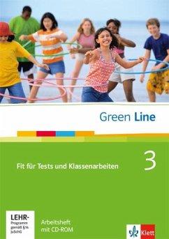Green Line 3. Fit für Tests und Klassenarbeiten. Arbeitsheft und CD-ROM mit Lösungsheft - Horner, Marion