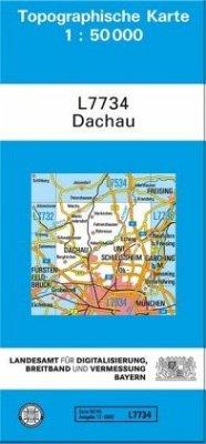 Topographische Karte Bayern Dachau