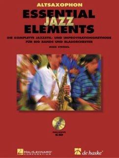 Essential Jazz Elements, für Altsaxophon, m. 2 Audio-CDs