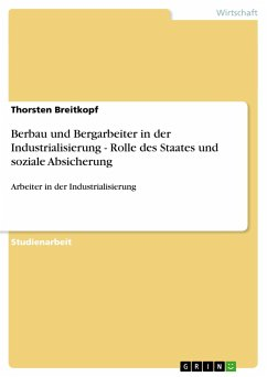 Berbau und Bergarbeiter in der Industrialisierung - Rolle des Staates und soziale Absicherung