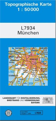Landesamt Für Digitalisierung, Vermessung Bayern Topographische Karte Bayern München