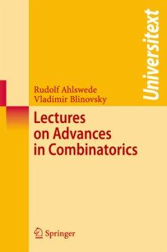 Lectures on Advances in Combinatorics - Ahlswede, Rudolf; Blinovsky, Vladimir