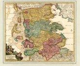 Schleswig mit den Nordfriesischen Inseln, um 1720, Planokarte