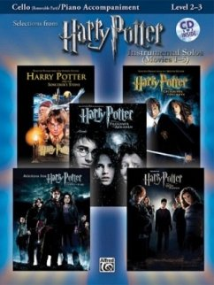 Selections from Harry Potter Movies 1-5, w. Audio-CD, for Cello and Piano Accompaniment