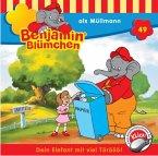 Benjamin Blümchen als Müllmann / Benjamin Blümchen Bd.49 (1 Audio-CD)