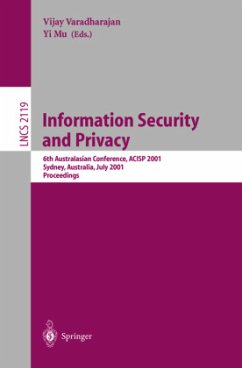 Information Security and Privacy - Varadharajan, Vijay / Mu, Yi (eds.)