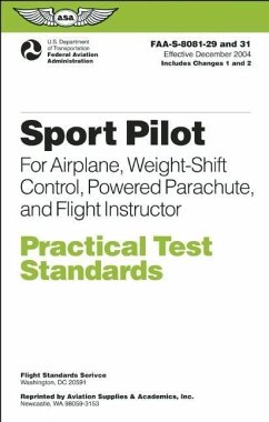 Sport Pilot Practical Test Standards for Airplane, Weight-Shift Control, Powered Parachute, and Flight Instructor: Faa-S-8081-29 and 31 - Federal Aviation Administration (Faa)/Av