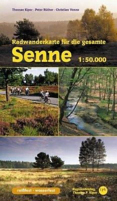 Radwanderkarte für die gesamte Senne - Kiper, Thomas; Rüther, Peter; Venne, Christian