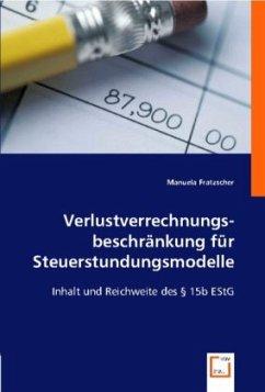 Verlustverrechnungsbeschränkung für Steuerstundungsmodelle