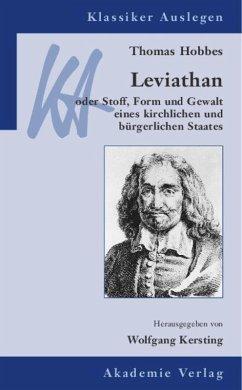 Thomas Hobbes: Leviathan - Kersting, Wolfgang (Hrsg.)