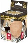 Würfelbecher + 6 Würfel (Spiel)