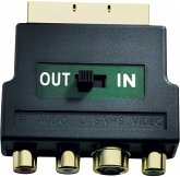 in-akustik Premium Scart Adapter S-VHS/RCA IN+OUT