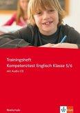 Trainingsheft Kompetenztest Englisch Klasse 5/6, Realschule, m. Audio-CD