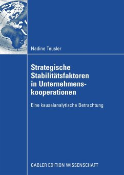 Strategische Stabilitätsfaktoren in Unternehmenskooperationen - Teusler, Nadine