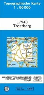 Topographische Karte Bayern Trostberg