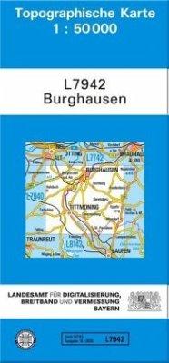 Topographische Karte Bayern Burghausen