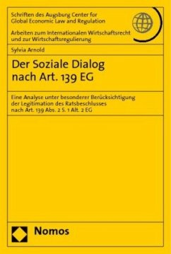 Der Soziale Dialog nach Art. 139 EG - Arnold, Sylvia