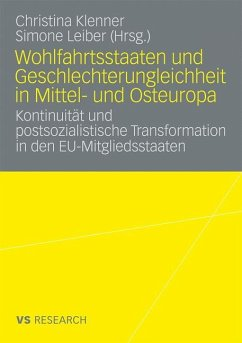 Wohlfahrtsstaaten und Geschlechterungleichheit in Mittel- und Osteuropa - Leiber, Simone / Klenner, Christina (Hrsg.)