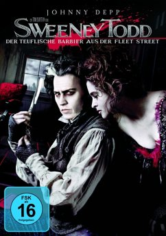 Sweeney Todd, 1 DVD-Video, deutsche u. englische Version - Johnny Depp,Helena Bonham Carter,Alan Rickman