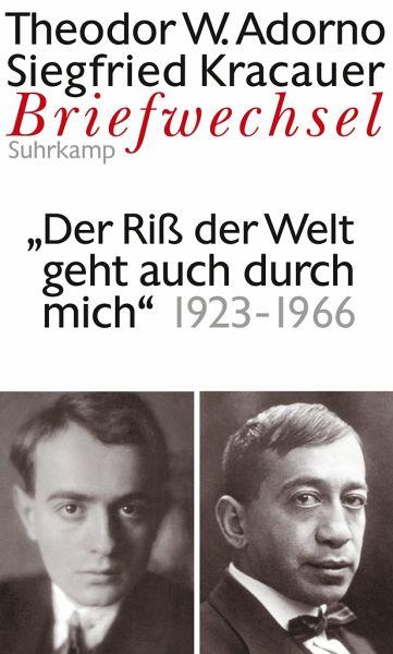 Briefwechsel 7. Theodor W. Adorno/Siegfried Kracauer. Briefwechsel 1923-1966 - Adorno, Theodor W.; Kracauer, Siegfried