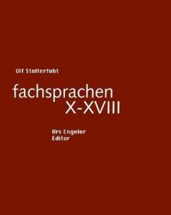 fachsprachen X - XVIII - Stolterfoht, Ulf