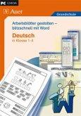 Arbeitsblätter gestalten - blitzschnell mit Word, Deutsch in Klasse 1-4, CD-ROM