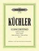 Concertino im Stil von Vivaldi D-Dur op. 15, für Violine und Klavier, Klavierpartitur und Violinstimme