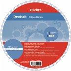Wheel. Deutsch Präpositionen. Sprachdrehscheibe