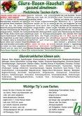 Säure-Basen-Haushalt - gesund abnehmen / Medizinische Taschen-Karte