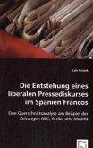 Die Entstehung eines liberalen Pressediskurses im Spanien Francos