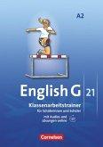 English G 21. Ausgabe A 2. Klassenarbeitstrainer mit Lösungen und CD
