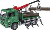 Bruder 02769 MAN Holztransport-LKW mit Ladekran