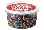 Hama 210-67 - Perlen Dose, 3000 Stück, 21 Vollton Farben, Farbmix