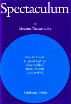 Spectaculum. Fünf moderne Theaterstücke und Materialien - Goetz, Rainald; Kolmar, Gertrud; Schleef, Einar; Strauß, Botho; Wolf, Robert
