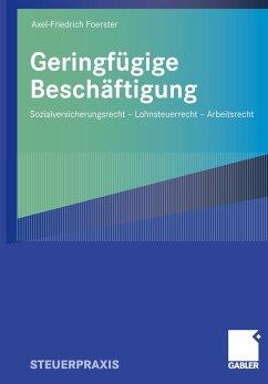 Geringfügige Beschäftigung - Foerster, Axel-Friedrich