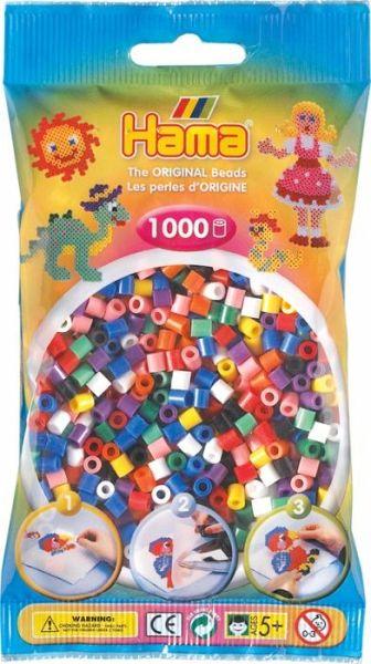 Hama Perlen Nougat 1.000 Stück Basteln & Kreativität