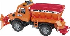 Unimog Winterdienst mit Räumschild