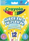 Crayola 12 Supertips aus- und abwaschbare Filzstifte