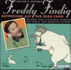 Freddy Findig, Aufregung auf der Bean Farm, 2 Audio-CDs - R. Brooks, Walter, Christoph Biemann und Manfred Schoof