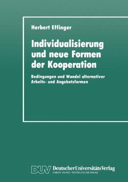 Individualisierung Und Neue Formen Der Kooperation Von Herbert