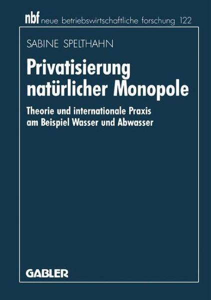 natürliche monopole in deutschland beispiele