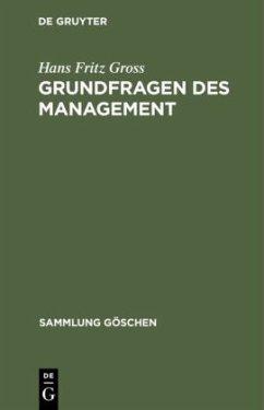 Grundfragen des Management - Gross, Hans Fritz