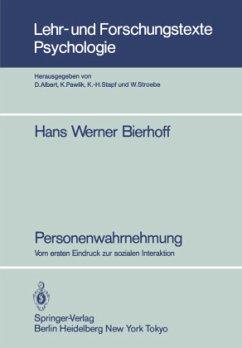 Personenwahrnehmung - Bierhoff, Hans-Werner