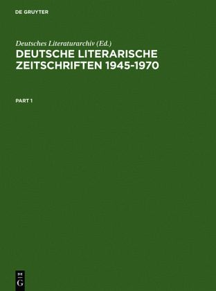 deutsche literarische zeitschriften 1945 1970 buch b. Black Bedroom Furniture Sets. Home Design Ideas
