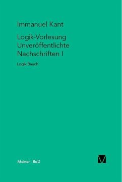 Logik-Vorlesungen. Unveröffentlichte Nachschriften I