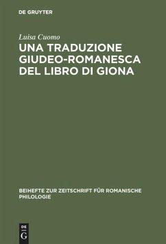 Una traduzione giudeo-romanesca del libro di Giona
