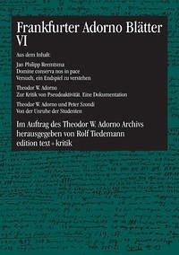 Frankfurter Adorno Blätter 6