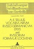 Vocabularium Russo-Germanicum und Russorum Formulae Loquendi 1707